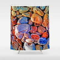 PEBBLED Shower Curtain by Catspaws