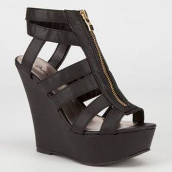 QUPID Finder Womens Wedges