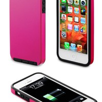 Acase Dual Layer iPhone 5 & 5s Case / Cover - Superleggera Pro Fit for New iPhone 5 & 5s (Hot Pink)