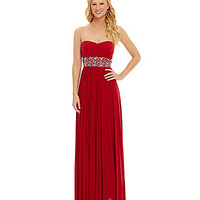 Xtraordinary Strapless Pleated Gown | Dillards.com