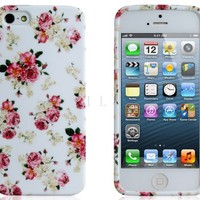 ETOU Floral Print TPU Rubber Case for iPhone 5