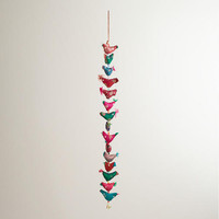 Silk Birds Wall Hanger