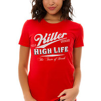 The Killer High Life Tee in Red