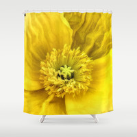 Jaune Shower Curtain by DuckyB (Brandi)
