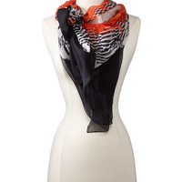 Alexander McQueen Feather Skull Scarf