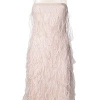 WES GORDON feather dress