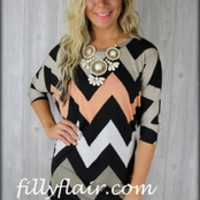 3/4 sleeve piko top - Filly Flair