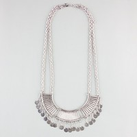 FULL TILT Metal Bar & Disc Statement Necklace