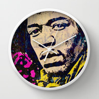 VOODOO CHILD Wall Clock by The Griffin Passant
