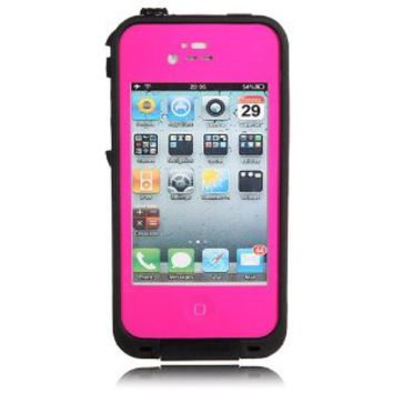 Viva OceanProof Waterproof Dustproof Snowproof Protection Case Cover For Apple iPhone 4 4S (Hot Pink)