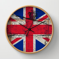 THE UNION FLAG Wall Clock by The Griffin Passant