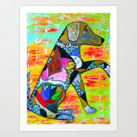 A LOYAL PAW Art Print by Adka