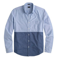 SLIM VINTAGE OXFORD SHIRT IN COLORBLOCK