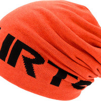 Burton Billboard Orange Reversible Slouch Beanie