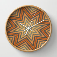 SUPER STARS Wall Clock by The Griffin Passant