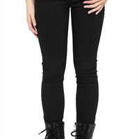 Black Skinny Pant with Five Pockets and Zipper