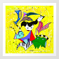 THE FROG PRINCE Art Print by Adka