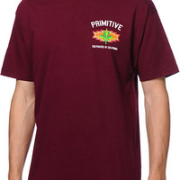 Primitive Native Burgundy Tee Shirt