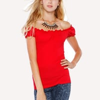 Papaya Clothing Online :: OPEN SHOULDER TOP