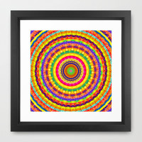 Batik Bullseye Framed Art Print by Peter Gross