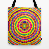 Batik Bullseye Tote Bag by Peter Gross