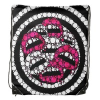 Bling Sassy Lips Drawstring Backpack