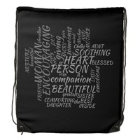 What A Women's Worth Drawstring Bag