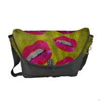 Dirty Girl Grunge Lips Rickshaw Messenger Bags