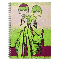 Vintage Sisters Pop/metal photo Notebooks