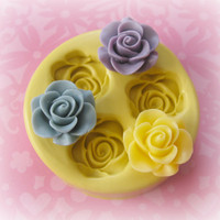Rose Mold Flower Silicone Flexible Clay Resin Mould by Molds4You