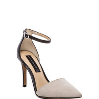 Steven Anibell Heel in White Multi