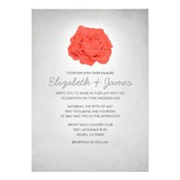 Trendy Floral White Wedding Invitations
