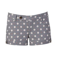 SO® Button Tab Shortie Shorts - Juniors