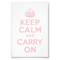 Pink Keep Calm and Carry On Photo