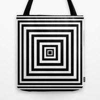 Squared Lines Series Tote Bag by Pop E. Carp