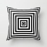 Squared Lines Series Throw Pillow by Pop E. Carp