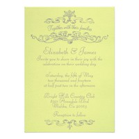 Simple Luxury Yellow Wedding Invitations
