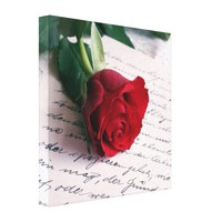 Red rose on a love letter healinglove customize