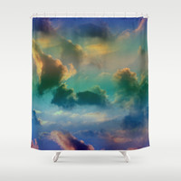 CLOUDSCAPE Shower Curtain by Catspaws