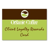 Custom Brown & Green Coffee Bean Business Card