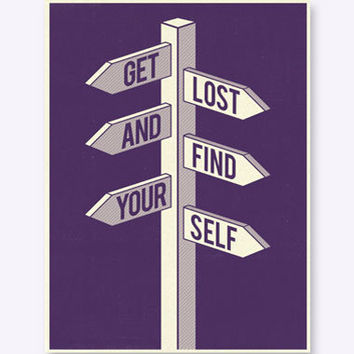 Urban Outfitters - East End Prints - Get Lost And Find Your Self