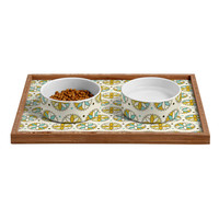 Heather Dutton Cartwheel Pet Bowl and Tray
