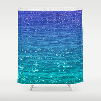 SEA SPARKLE Shower Curtain by Catspaws