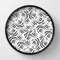 Abstract Pattern 1 Wall Clock by mollykd