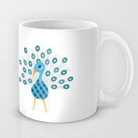 Geometric Peacock Mug by mollykd