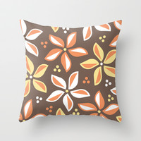 Floral Pattern 1 Throw Pillow by mollykd