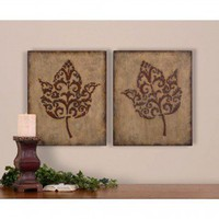Uttermost Decorative Leaves Wall Art (Set of 2) - 13732 - All Wall Art - Wall Art &amp; Coverings - Decor