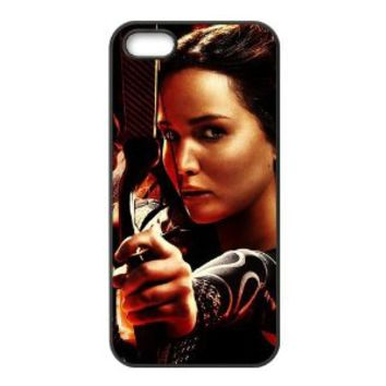 Classic Chief Actress of The Hunger Games&Jennifer Lawrence Durable Black Hard Case Cover for iPhone 5/5S