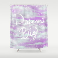 Dream Big - Lavender Shower Curtain by Lisa Argyropoulos