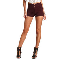 REFUGE CUFFED HIGH-WAISTED SHORTS